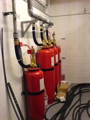 Die Löschmittel, die Datenverluste im Falle eines Brands verhindern sollen.