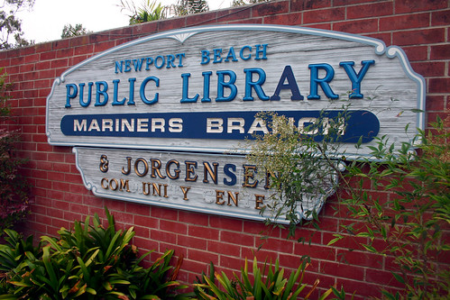 Mariners Library Sign