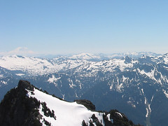 Mt Ranier, Lennox Mtn, Goat Mtn, And Crosby Mtn From Baring Mtn