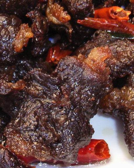 炒牦牛肉(特写)
