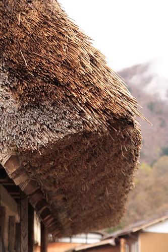 茅草屋頂特寫
