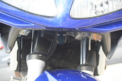 video camera mounted under the nose of my SV650S