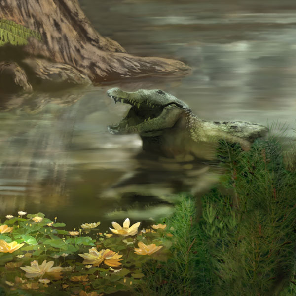 Deinosuchus in Triassic Landscape