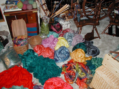Handdyed silk, The Artful Ewe