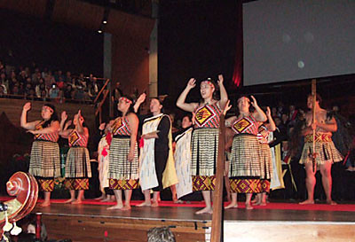 The powhiri at our graduation ceremony