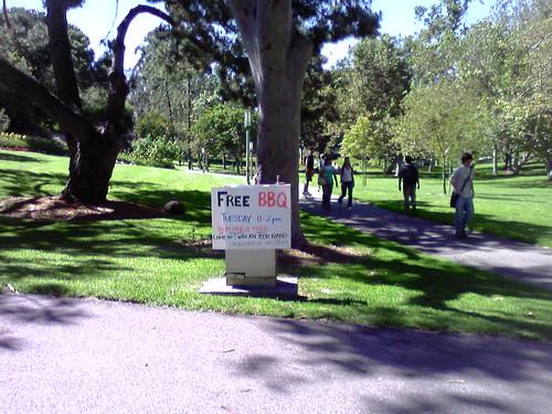 MSU Dawah BBQ poster in Aldrich Park
