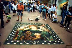 Julian Beever: Rossetti in Nieuwstraat