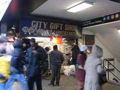 City Gift Shop.  Fulton-Broadway-Nassau Subway Station, Lower Manhattan.