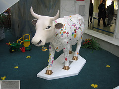 No 44 Crocus, the colour me cow at Edinburgh Cow Parade 2006