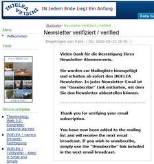 Zookoda Newsletter Verifizierung