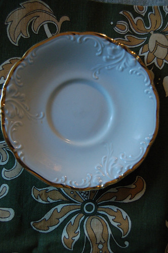 Plate with gold edge