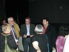 Joel and Jacob speak with audience after Two Toledos Premiere
