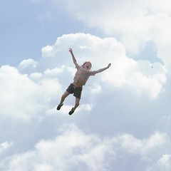 Arthur flying in cloudy sky photo by jamesmorton