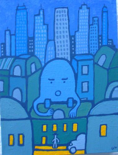 Blue Blob Man