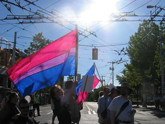 The Bi Flag on Broadway