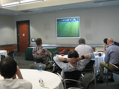 watching the world cup at gnomedex