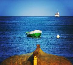 boats at Mindelo coast
