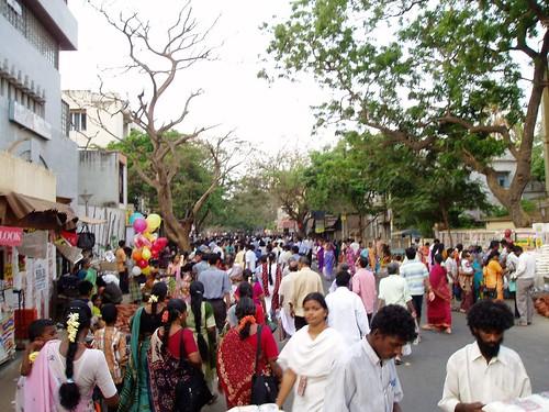Crowded St. Marys Road, Chennai