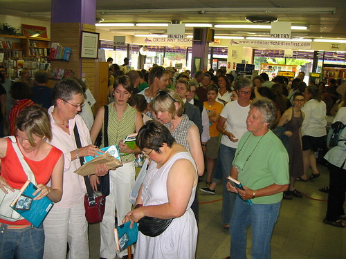 line at women and children first