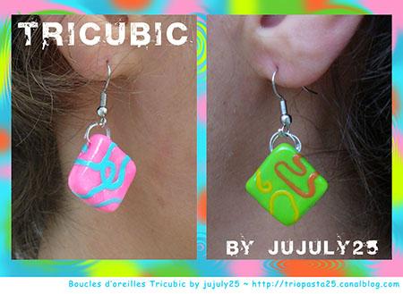Boucles d'oreilles Tricubic