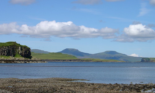 Looking across Fiskavaig Bay towards MacLeod's Tables
