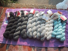 Yarn for Log Cabin Throw