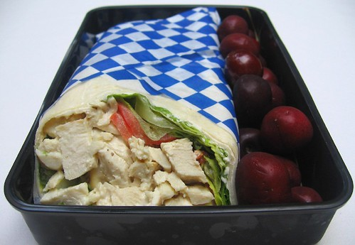 Caesar chicken salad wrap お弁当