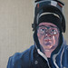 Govan portrait, Oil on linen, 40x40cm