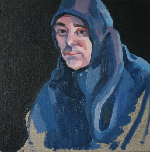Welder, Oil on linen, 40x40cm