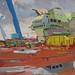 The forward island, Gouache on board, 33x25cm