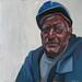 Polish shipbuilder, Oil in canvas, 40x40cm