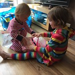 James helping Amy with her presents<br/>25 Jul 2015