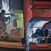 Steel builders, Acrylic on canvas, 120x70cm