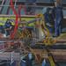 Shipyard brotherhood, Acrylic on canvas. 100x150cm