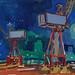 Cranes nocturne, gouache on paper, 62x50cm