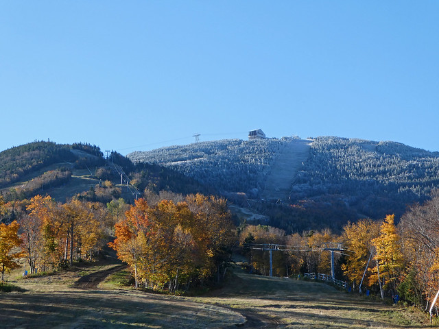 10/17/17 Frosty summit & snowmaking test this morning - winter is coming!