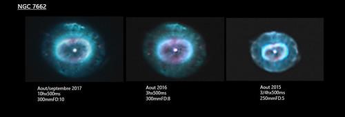 comparatif NGC 7662 sur 3ans
