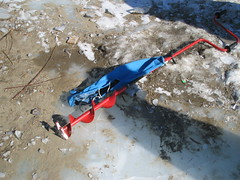 Drilling ice!