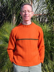 Me Wearing the Orange Sweater