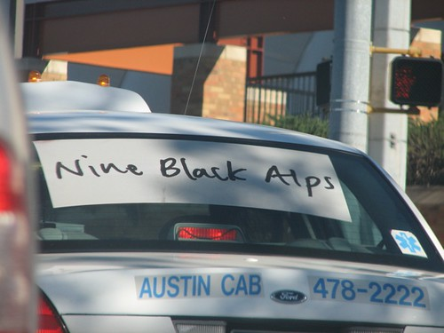 Nine Black Alps taxi ad