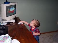 Techno Boy 2: Checking Eee-Mayull photo by moosemama