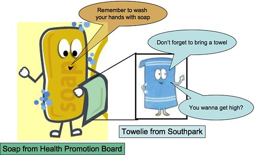Towelie and Soap from HPB