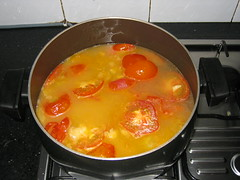 Tomatoes and stock