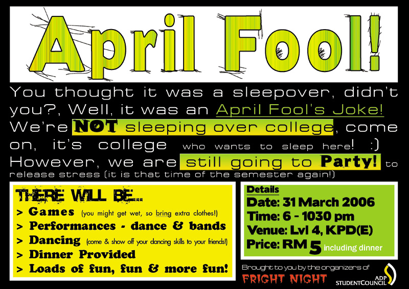 april fool party