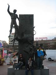 Monument Antonio Bienvenida & José Cubero kat luar Plaza de Toros de las Ventas, Madrid, Spain