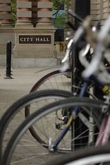 bike rack at City Hall