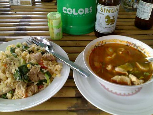 Fried Rice and Tom Yum Gai