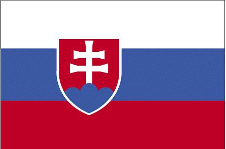 La bandera de Eslovaquia