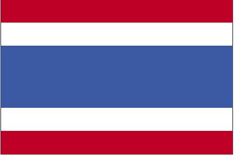 La bandera de Tailandia