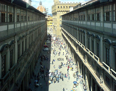 The view from the Uffizi's 2nd corridor